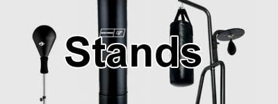 boxing stands, bag hangers