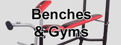 weight benches, home gyms, and strength equipment