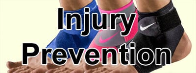 prevent sports injury, ankle wrap, knee protection