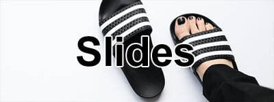 childrens footwear slides from Nike and Adidas