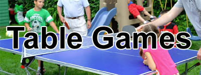 table tennis tables, billiards tables, ping-pong and sports games tables