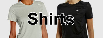 women's shirts from Asics, Nike, Puma and Adidas