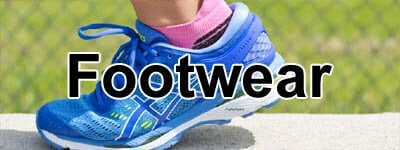 kids running shoes from Asics, Nike, New Balance, and Adidas