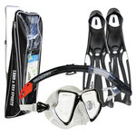 Land & Sea Whitsunday Silicone Mask, Snorkel, Fin Set-snorkel-Sportspower Super Warehouse