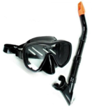Land and Seas Black Marlin Mask and Snorkel Set-snorkel-Sportspower Super Warehouse