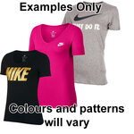 Nike Womens Word Logo Tee-Shirt-shirts-Sportspower Super Warehouse